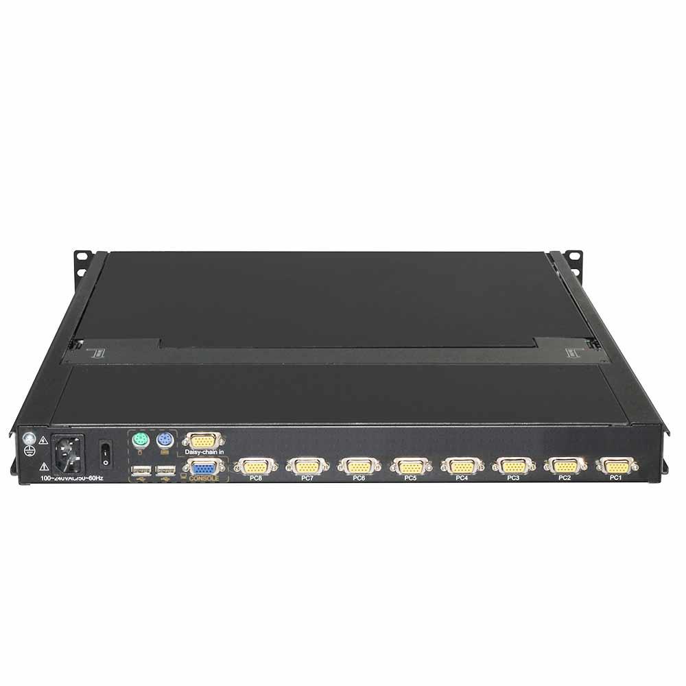 DL1908 19″8口双轨LCD/LED液晶 KVM控制平台