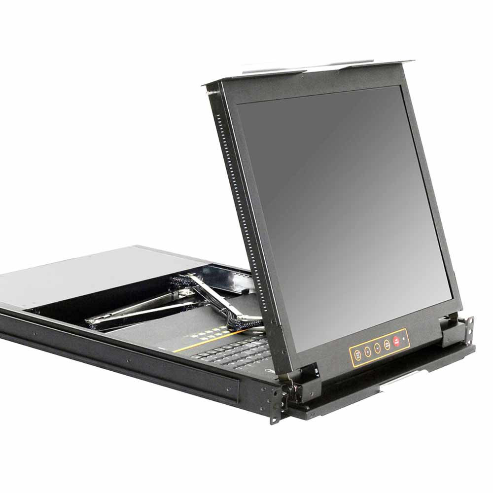 DL1916 19″16口双轨LCD/LED液晶 KVM控制平台