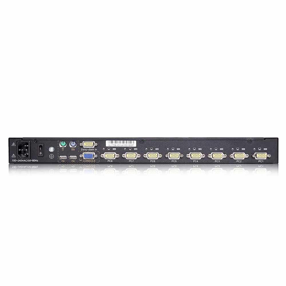 XL1708 17″8VGA口 LED 液晶KVM控制平台