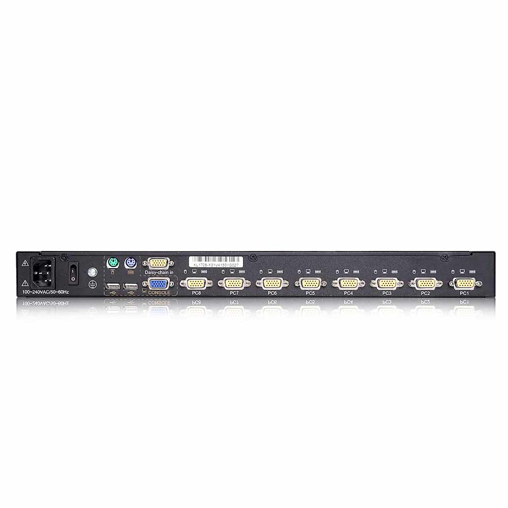 XL1908 19″8VGA口 LED 液晶KVM控制平台