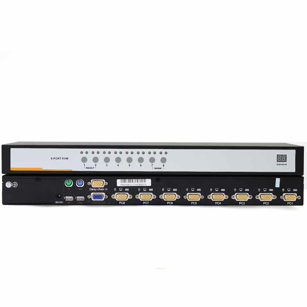 XM0108 8口PS/2、USB,VGA口混接 KVM切换器