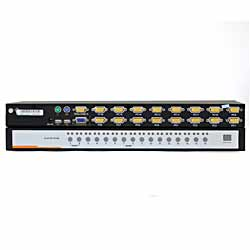 XM0116 16口PS/2、USB,VGA口混接 KVM切换器