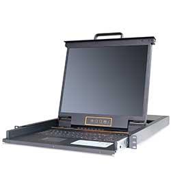 热门产品LC1708 8口机架式LCD/LED 液晶KVM 切换器