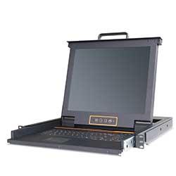 热门产品LP1702 2口机架式LCD 液晶KVM 切换器
