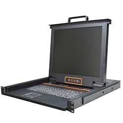 热门产品XL1704 4口机架式LCD/LED 液晶KVM 切换器
