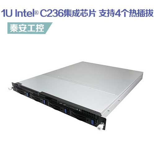 BAX-R1U4S-C236 ,1U机架式工控机,支持4个热插拔,Intel®第6、7代酷睿处理器ATX主板/ Intel® C236集成芯片