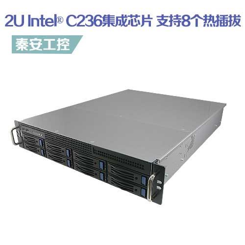 """BAX-R2U8S-C236 标准19"""" 2U机架式工控机,Intel®第6、7代酷睿处理器ATX主板/ Intel® C236集成芯片"""